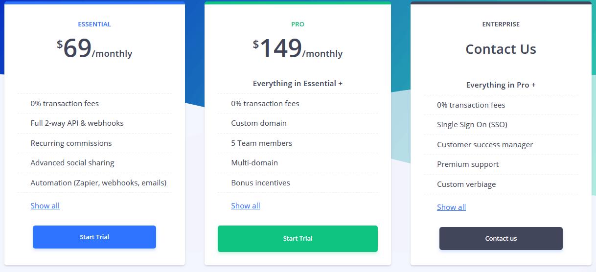 Tapfiliate Pricing