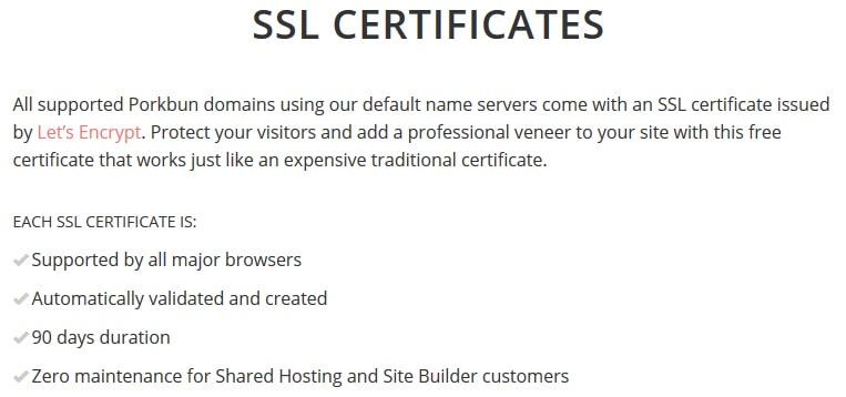 Porkbun SSL Certificate