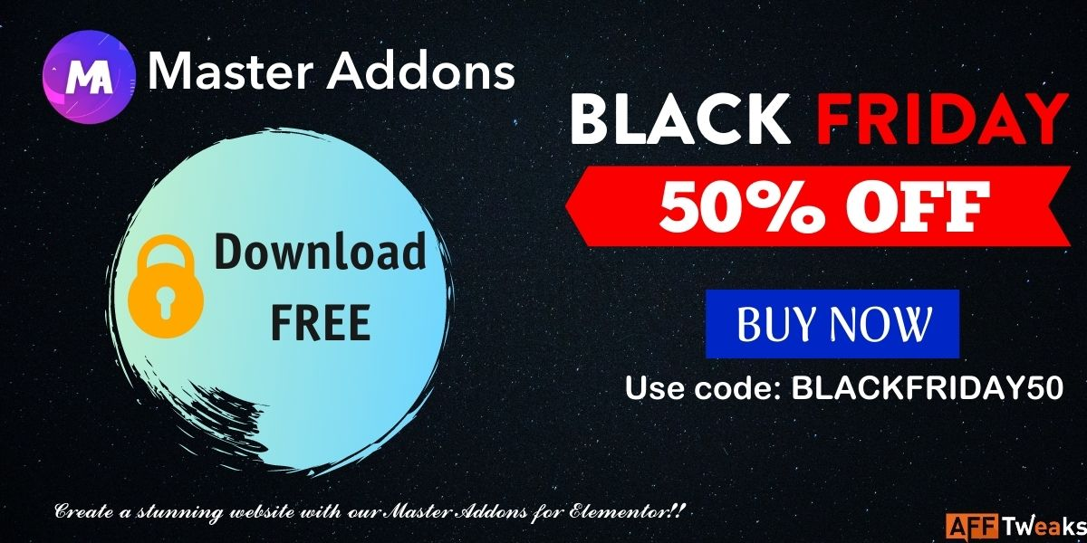 Master Addons Black Friday Cyber Monday Deal