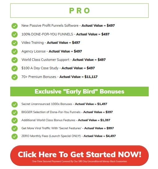 Passive Profit Funnels Pricing