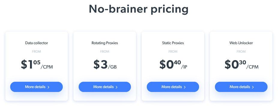 Bright Data Pricing