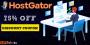Get 75% OFF on HostGator