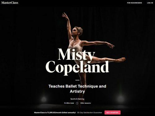 Misty Copeland Masterclass